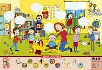 Plansza edukacyjna Sylabowe przedszkole