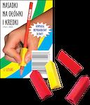 Kolorowe nasadki przeznaczone dla dzieci, które nieprawidłowo trzymają ołówek, kredkę czy długopis