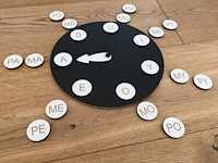 Zegar sylabowy z samogłoskami
