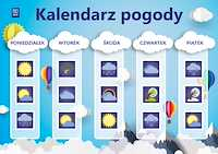 Kalendarz pogody. Pomoce demonstracyjne. SP kl.1-3