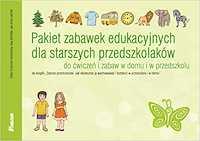 Pakiet zabawek edukacyjnych dla starszych przedszkolaków Do ćwiczeń i zabaw w domu i przedszkolu
